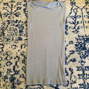 Michael Stars Shimmering Grey/Blue Fitted Tank